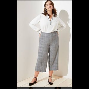 Loft Plus Wide Leg Crop Pants in Plaid